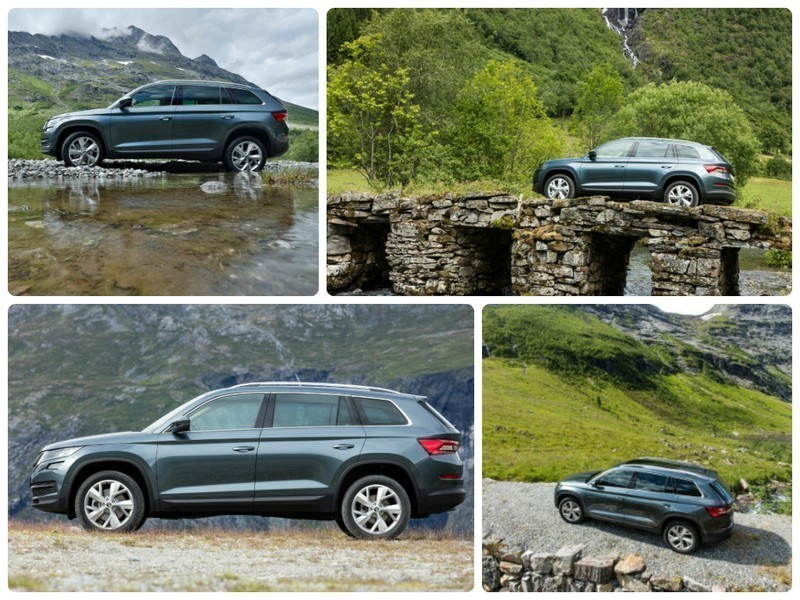 New Skoda Kodiaq car picture collage