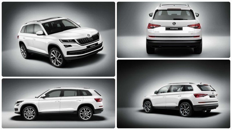 New Skoda Kodiaq car collage