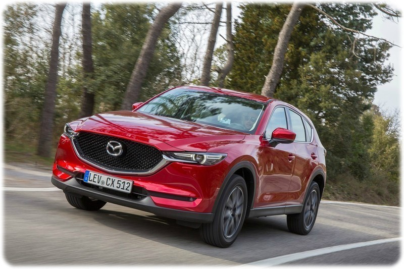 All new 2017 Maxda CX-5 on the road