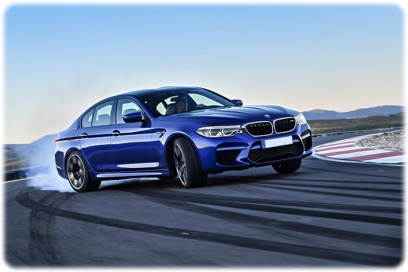 New BMW M5 Drifting on a track