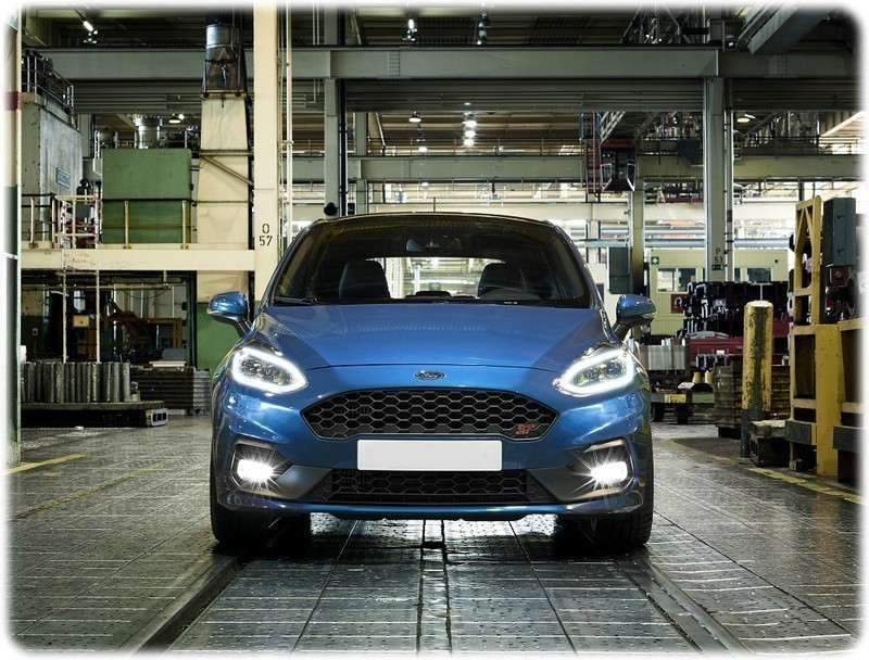 ford fiesta st being built