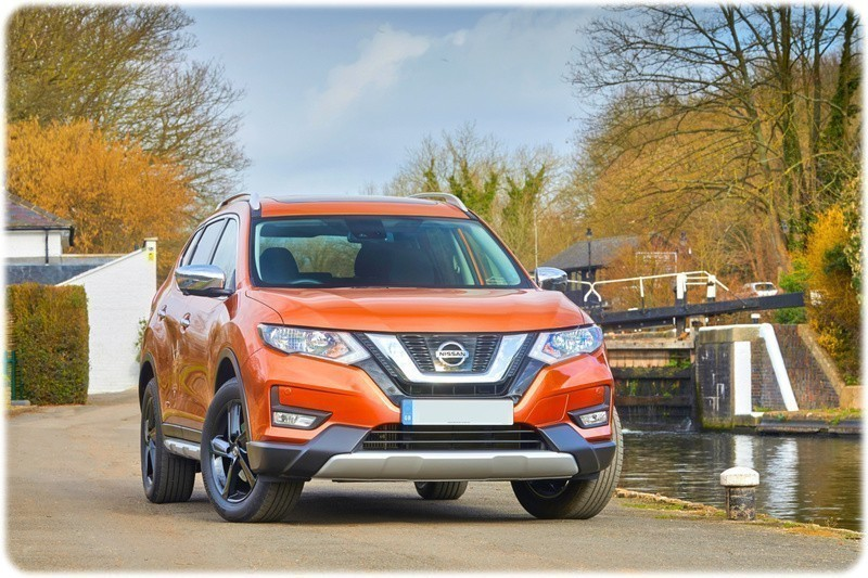 The Front of the new platinum edition nissan X-trail