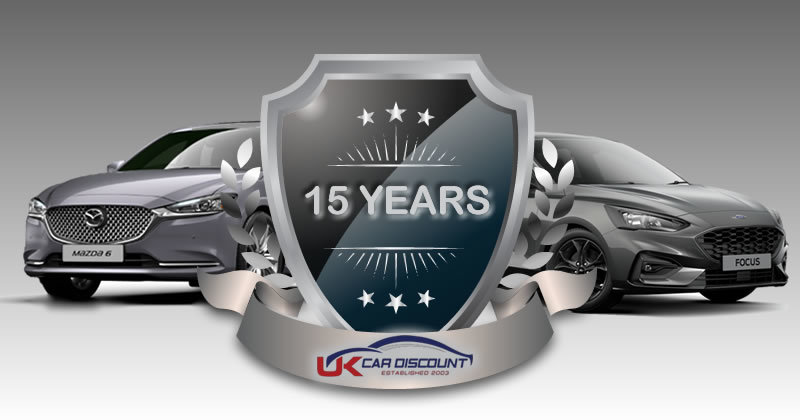 15 years anniversary crest - UK Car Discount