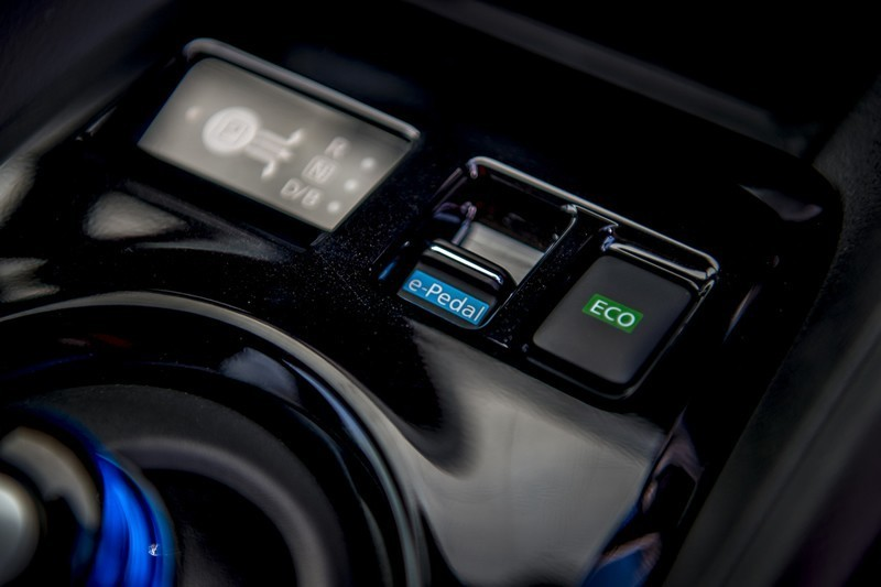 close up of eco mode button