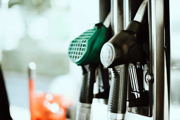 closeup of petrol pump