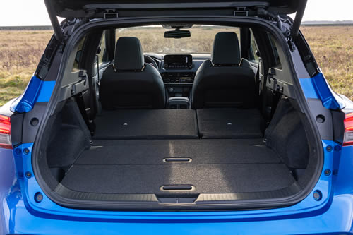 2021 New Nissan Qashqai boot space illustrated