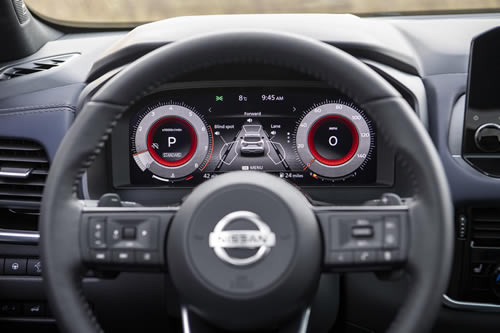 2021 New Nissan Qashqai 12 inch high definition driver display