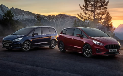 New Hybrid Ford S-MAX and Galaxy Models Available
