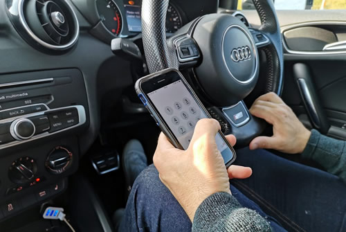 operating phone while driving